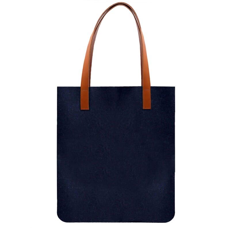 vue arrière sac cabas ultra-fin drap de laine bleu JULES & JENN