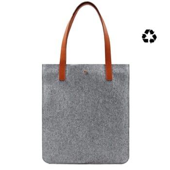 sac cabas ultra-fin drap de laine gris JULES & JENN