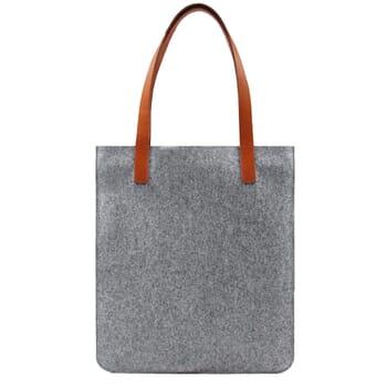 vue arrière sac cabas ultra-fin drap de laine gris JULES & JENN