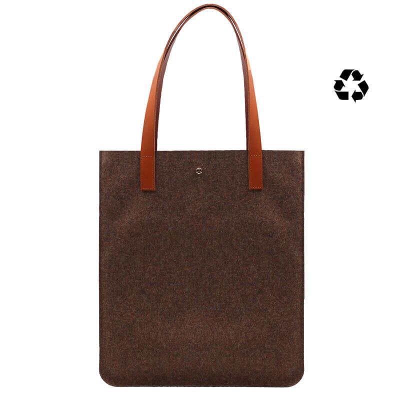 sac cabas ultra-fin drap de laine marron JULES & JENN