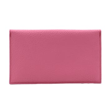 vue arrière pochette enveloppe cuir upcyclé rose jules & jenn