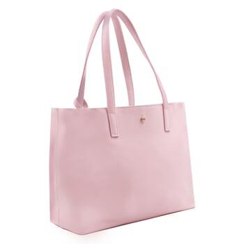vue cote sac cabas cuir souple graine rose jules & jenn