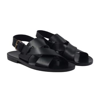 sandales homme cuir noir jules & jenn