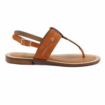 vue exterieur sandales tropéziennes cuir daim camel jules & jenn