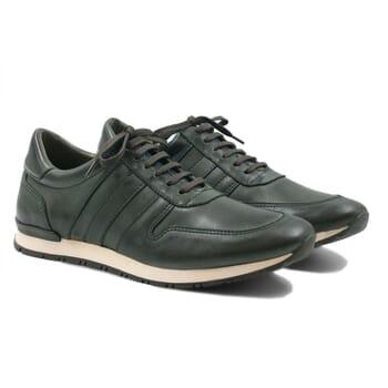 sneakers cuir vert JULES & JENN