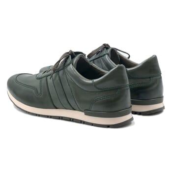 vue arrière sneakers cuir vert JULES & JENN