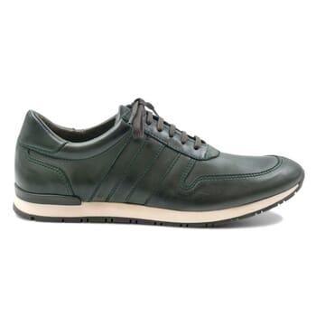 vue extérieur sneakers cuir vert JULES & JENN