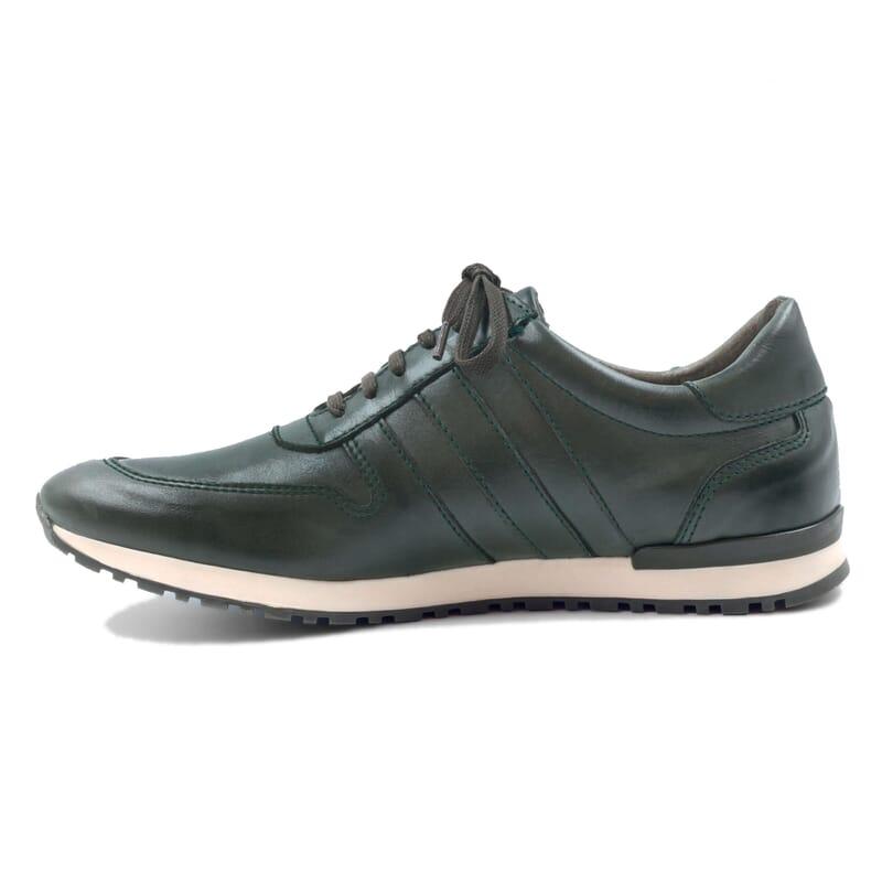 vue intérieur sneakers cuir vert JULES & JENN