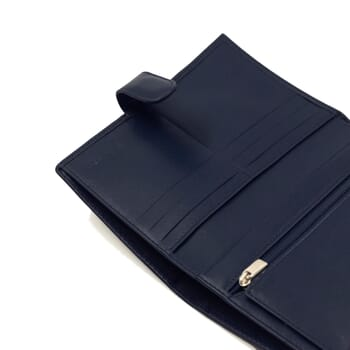 vue interieur portefeuille porte-chequier bleu jules & jenn