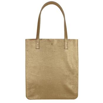 sac cabas plat cuir graine dore jules & jenn