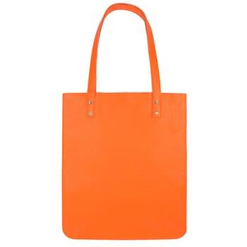 vue arriere sac cabas plat cuir graine orange jules & jenn