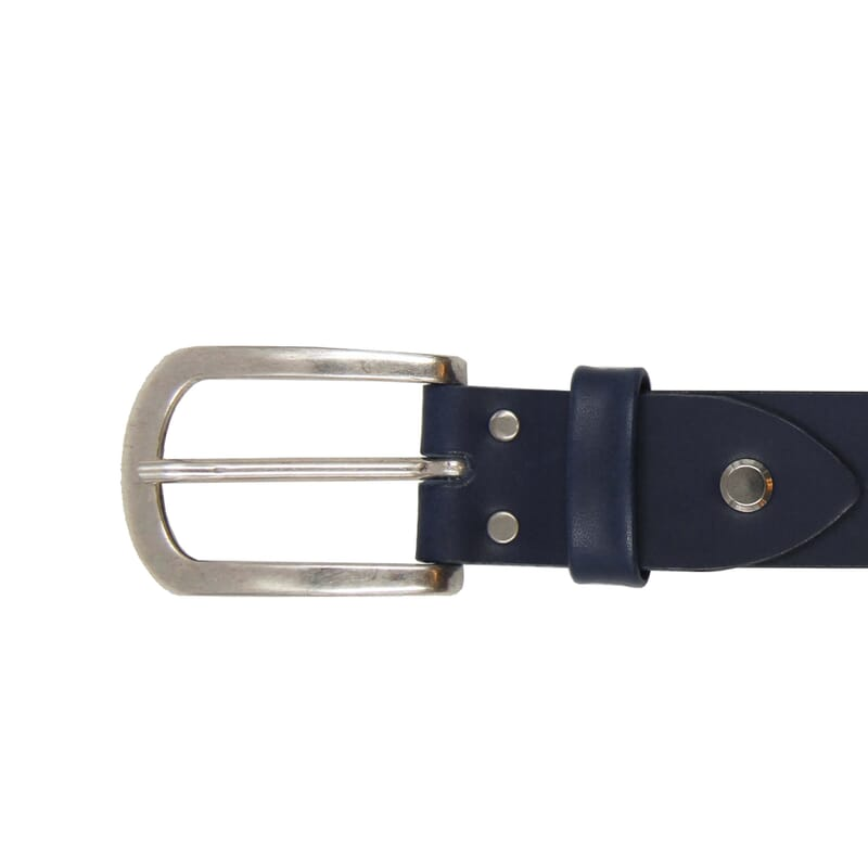 vue boucle ceinture aventure cuir bleu jules & jenn