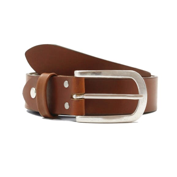 Sandales croisées cuir marron