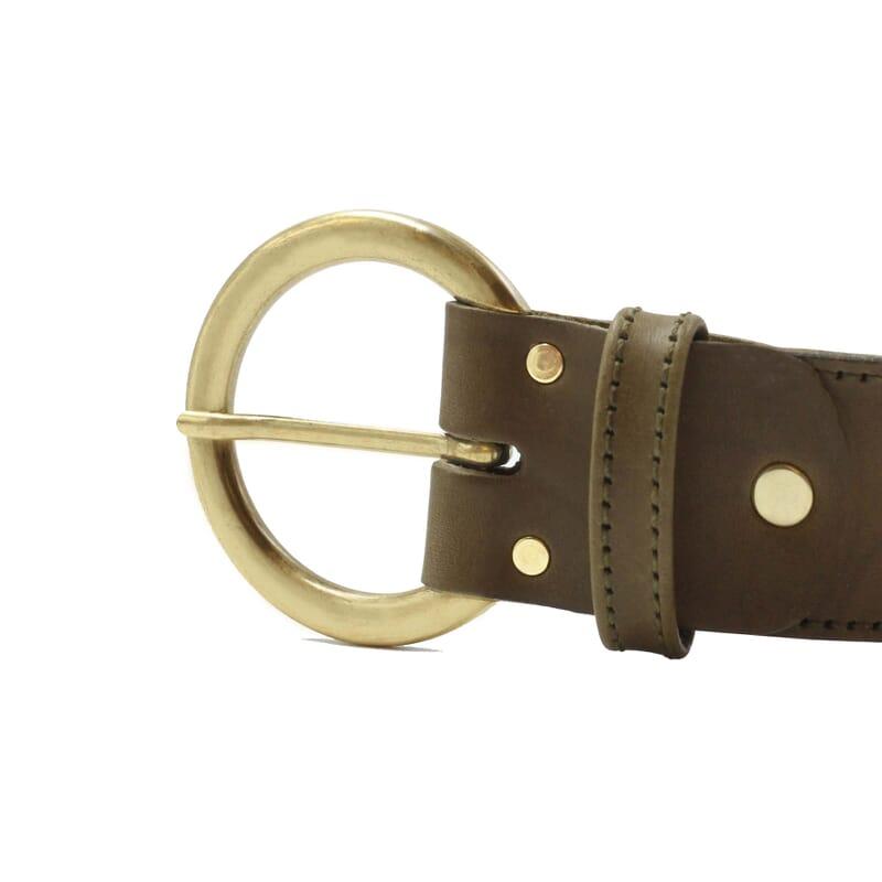 vue boucle ceinture boheme cuir kaki jules & jenn