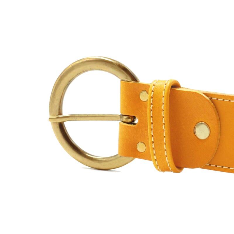 vue boucle ceinture boheme cuir moutarde jules & jenn