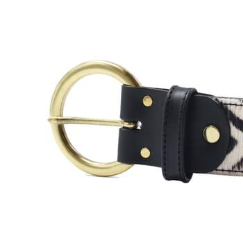 vue boucle ceinture boheme cuir zebre jules & jenn