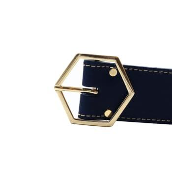 vue boucle ceinture coquette cuir bleu jules & jenn