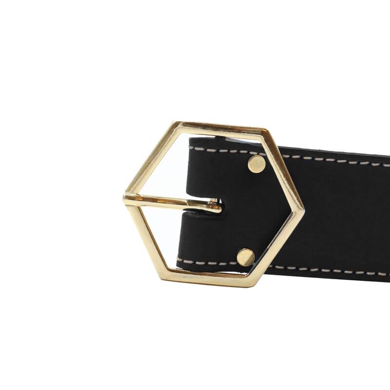 vue boucle ceinture coquette cuir noir jules & jenn