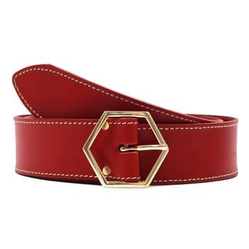 ceinture coquette cuir rouge jules & jenn