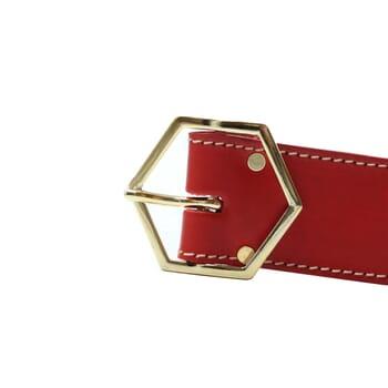 vue boucle ceinture coquette cuir rouge jules & jenn