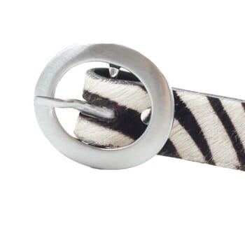vue boucle ceinture fine cuir zèbre jules & jenn