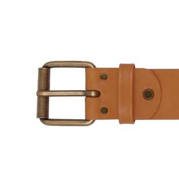 vue boucle ceinture week-end cuir camel jules & jenn