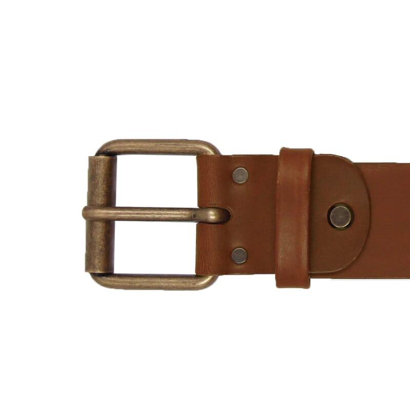 vue boucle ceinture week-end cuir cognac jules & jenn