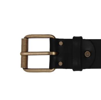vue boucle ceinture week-end cuir noir jules & jenn