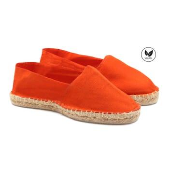 espadrilles toile coton orange jules & jenn