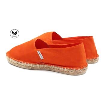 vue arriere espadrilles toile coton orange jules & jenn