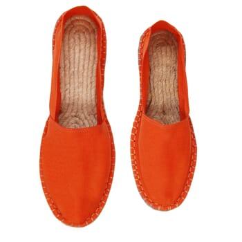 vue dessus espadrilles toile coton orange jules & jenn