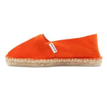 vue exterieur espadrilles toile coton orange jules & jenn