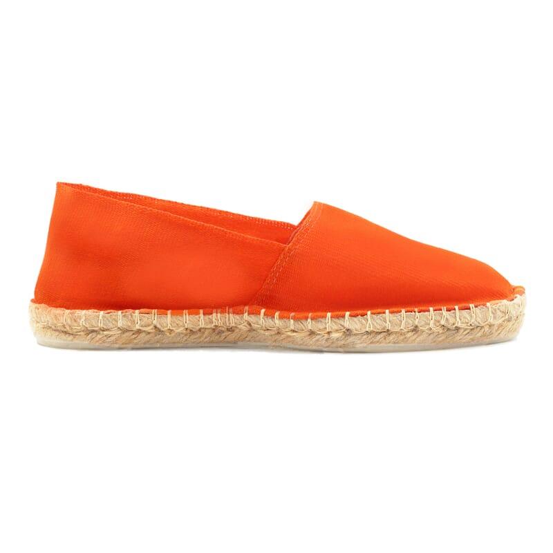 vue interieur espadrilles toile coton orange jules & jenn