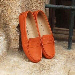 vue posee mocassins femme cuir graine orange jules & jenn
