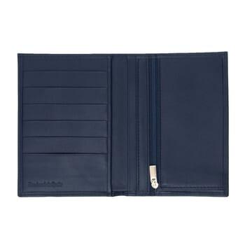 vue interieur portefeuille classique cuir upcycle bleu jules & jenn