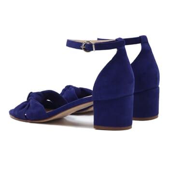 sandales nœud cuir daim bleu jules & jenn