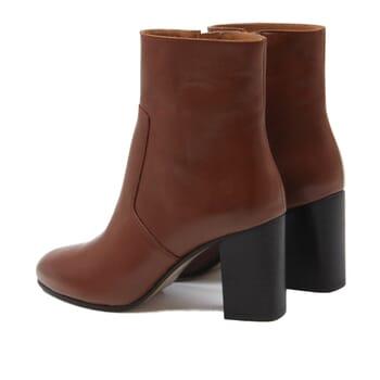 vue arriere bottines talon essentielles cuir camel jules & jenn