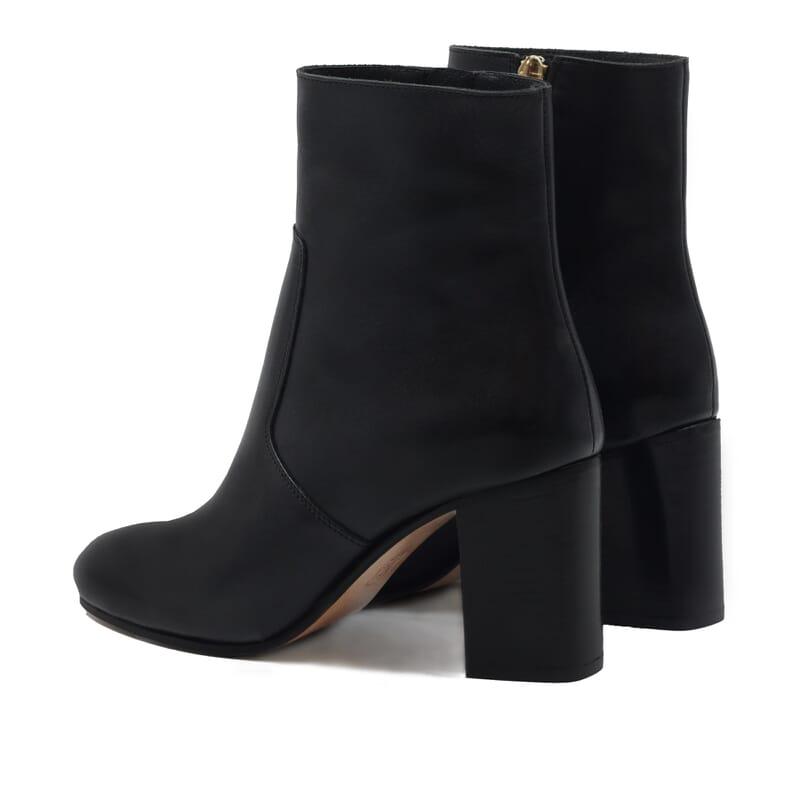 vue arriere bottines talon essentielles cuir noir