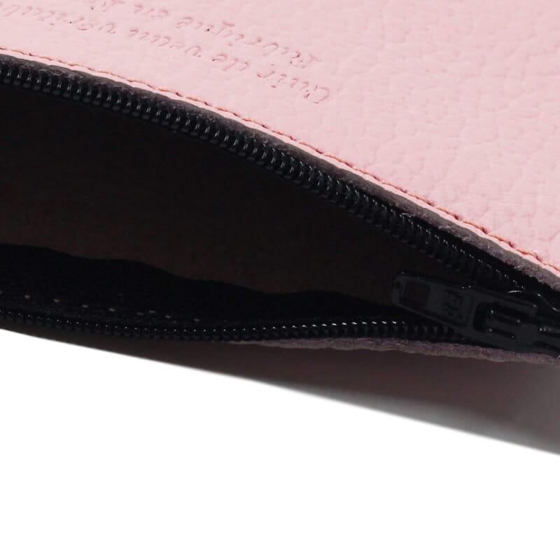 vue interieur pochette cuir graine upcycle rose petit modele jules & jenn