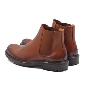 vue arriere chelsea boots basses cuir cognac jules & jenn