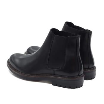 vue arriere chelsea boots basses cuir noir jules & jenn