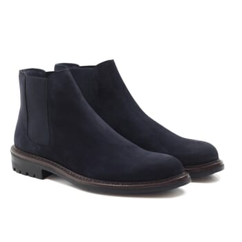 chelsea boots basses cuir nubuck bleu jules & jenn