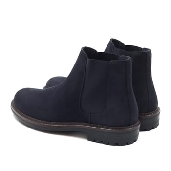 vue arriere chelsea boots basses cuir nubuck bleu jules & jenn