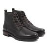 ranger boots cuir graine kaki jules & jenn