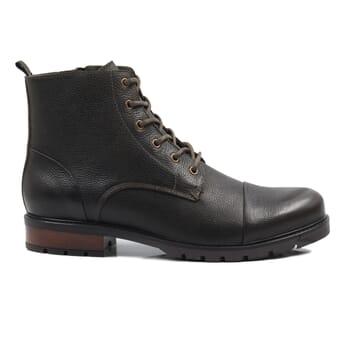 vue exterieur ranger boots cuir graine kaki jules & jenn