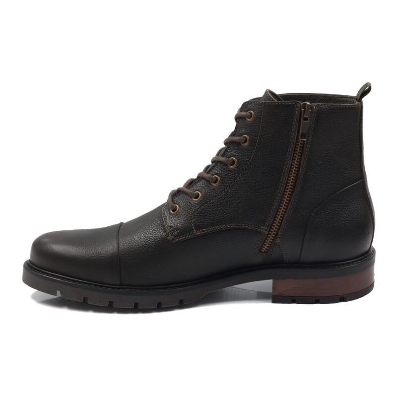 vue interieur ranger boots cuir graine kaki jules & jenn
