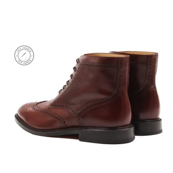 vue arriere boots cousu goodyear cuir cognac jules & jenn