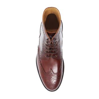 vue dessus boots cousu goodyear cuir cognac jules & jenn