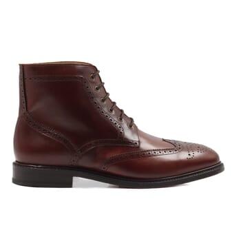 vue exterieur boots cousu goodyear cuir cognac jules & jenn