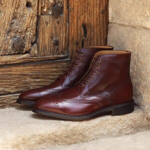 vue posee boots cousu goodyear cuir cognac jules & jenn